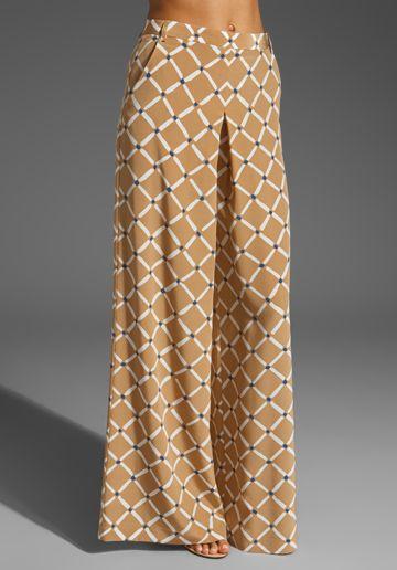 wide-leg pant, geometric print