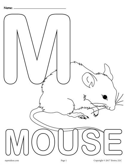Coloring Pages Printable Letter M on a budget