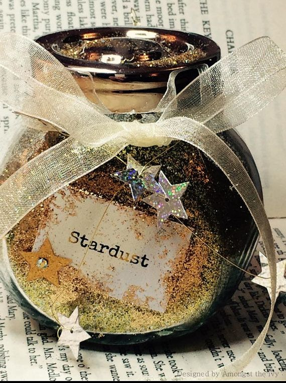 Stardust in a Jar by AmongstTheIvy on Etsy