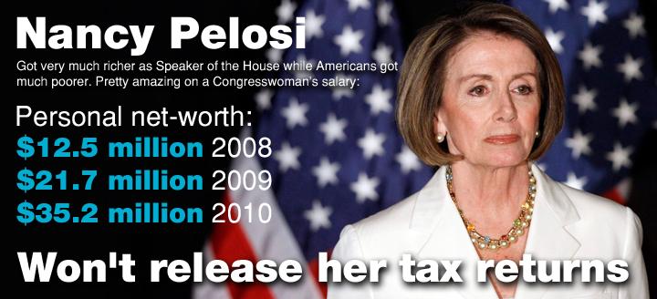 No Wonder Nancy Pelosi Won T Show Her Tax Returns Nancy Pelosi Tax Return How To Get Rich
