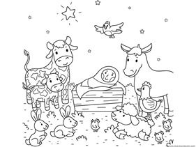 christmas nativity coloring pages - Christmas Nativity Coloring Pages