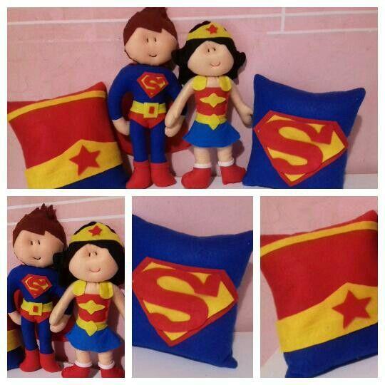 Kit Super Heróis  www.elo7.com/dyarts