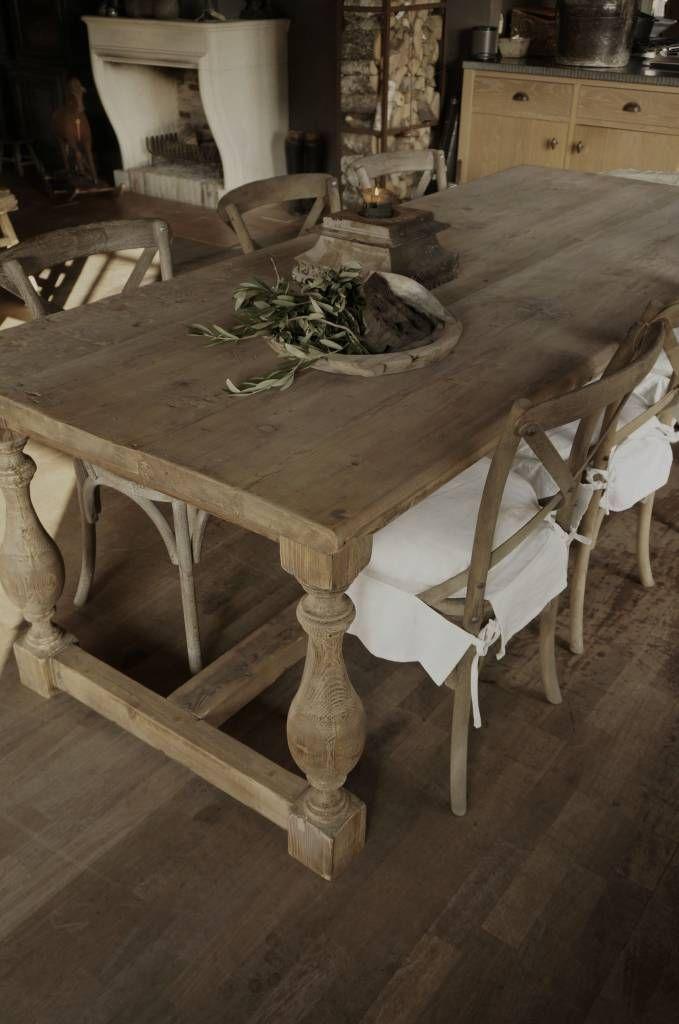 Oud houten eettafel modern country interiors country for Eettafel modern