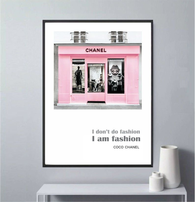 Fashion Wall Art Poster Fashion Print Illustration Chanel Store Home Decor Instant Download High Res 300 Dpi In 2020 Fashion Wall Art Fashion Wall Art Poster Poster Wall Art