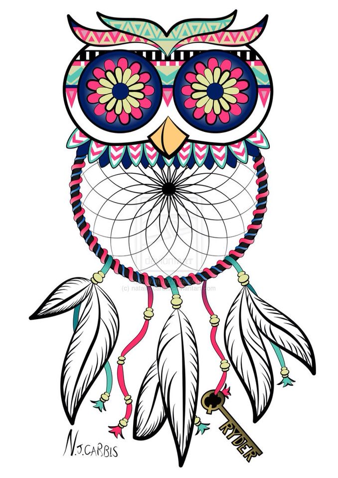 35++ Owl dream catcher clipart ideas