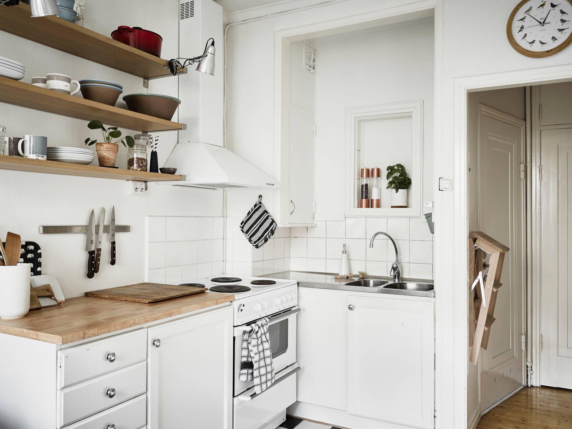 Orden En La Cocina Un Sal N Gris Y Un Dormitorios Peque Os  # Muebles Mejicanos De Segunda Mano