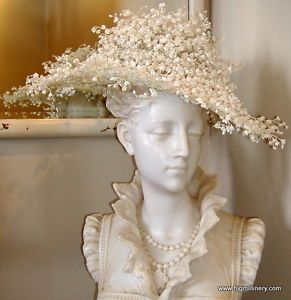 Svelte Vintage Jack McConnell NEW YORK Lily of the Valley Widebrim Hat c1960's