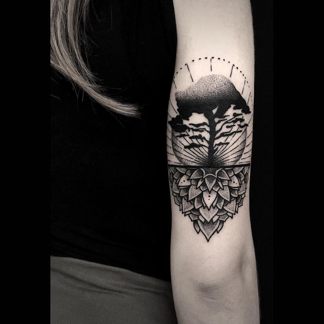 Otheser, Sake Tattoo Crew Athens, Greece - Savannah Tree