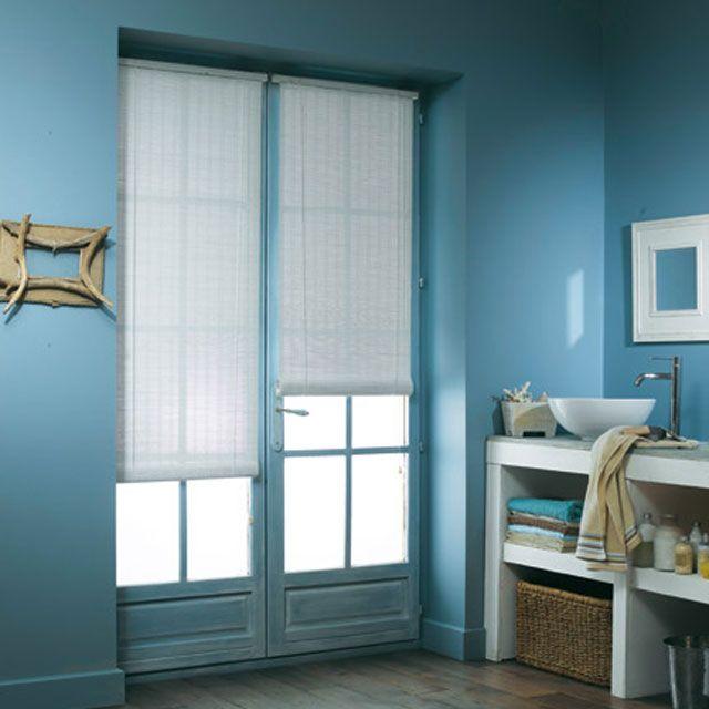 Store enrouleur tamisant bois tissé BALLAUFF blanc 60 x 180 cm ...