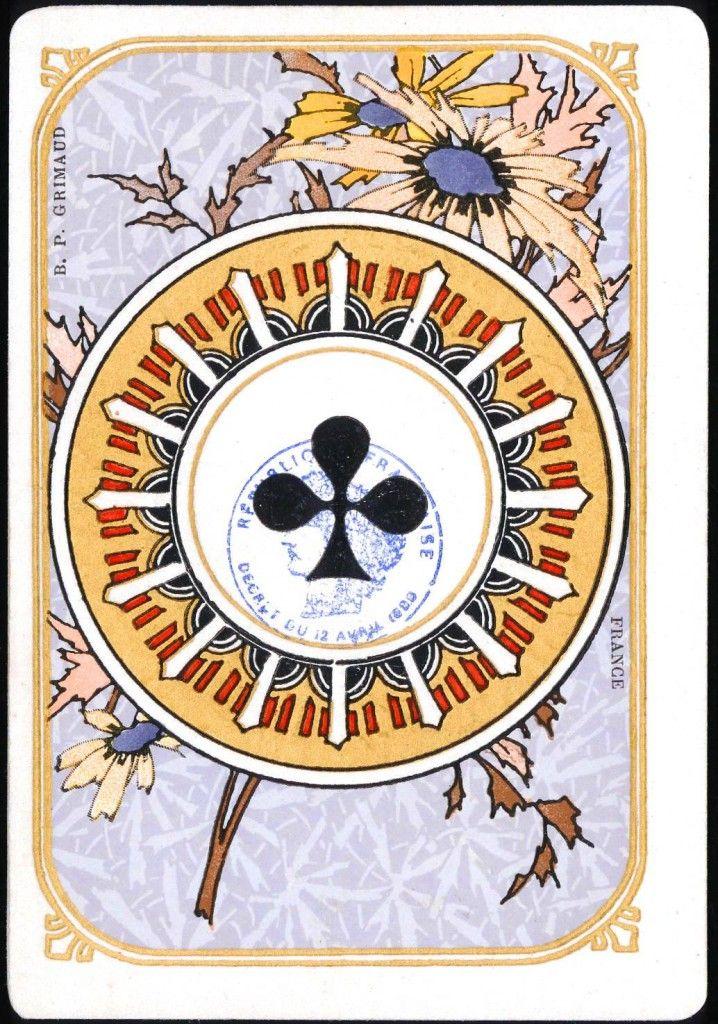 Art Nouveau Ace of Clubs