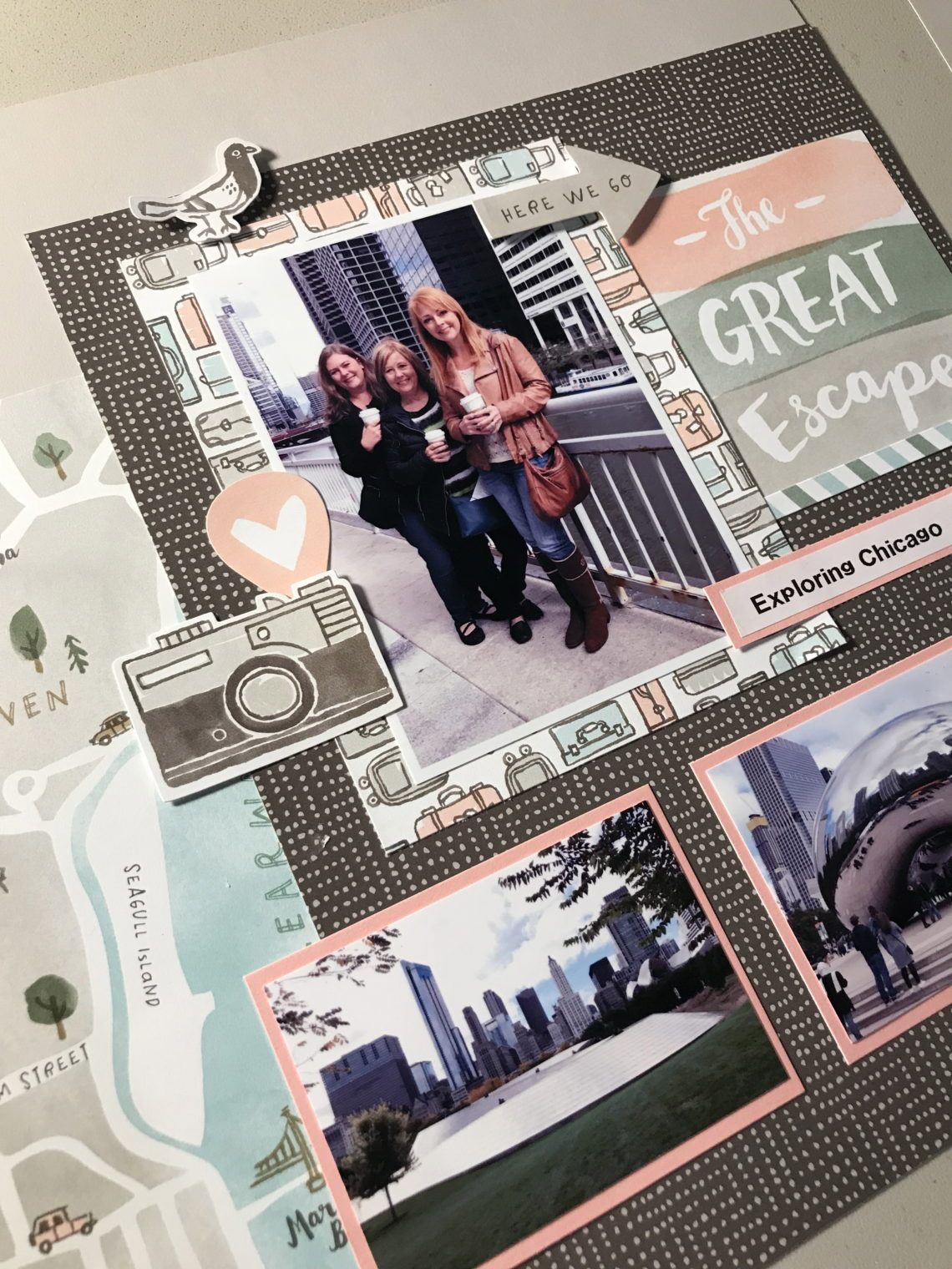 The World Is Yours – Crafty Concepts with Erin #ctmh #ctmhtheworldisyours #scrapbooking #photolayouts #vacationlooks