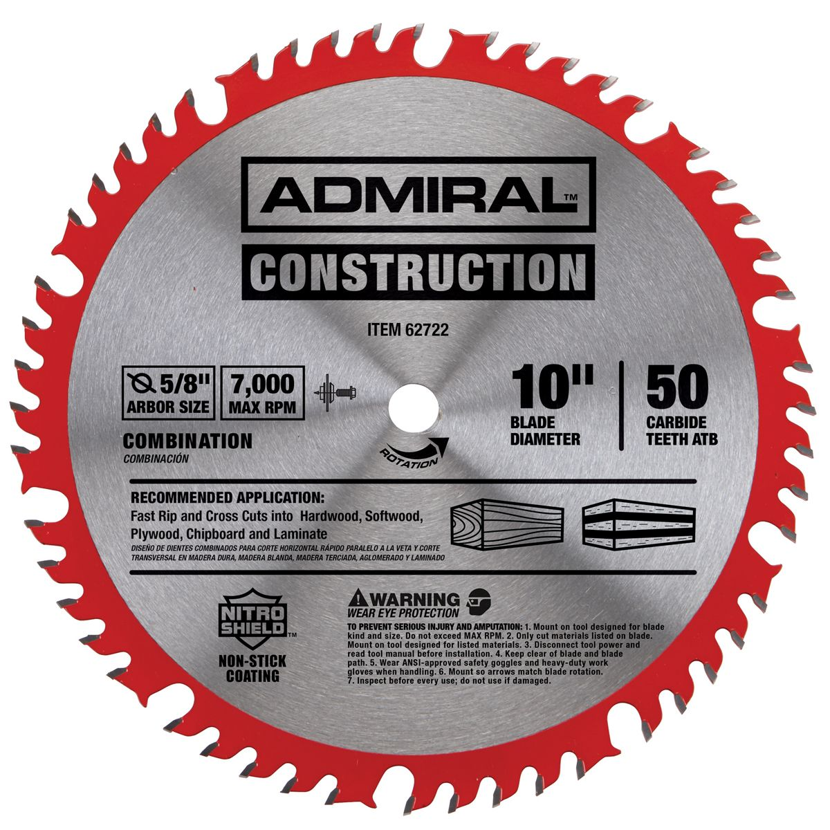 10 In 50t Combination Circular Saw Blade With Nitro Shield Coating Maquinas Para Marcenaria Ferramentas