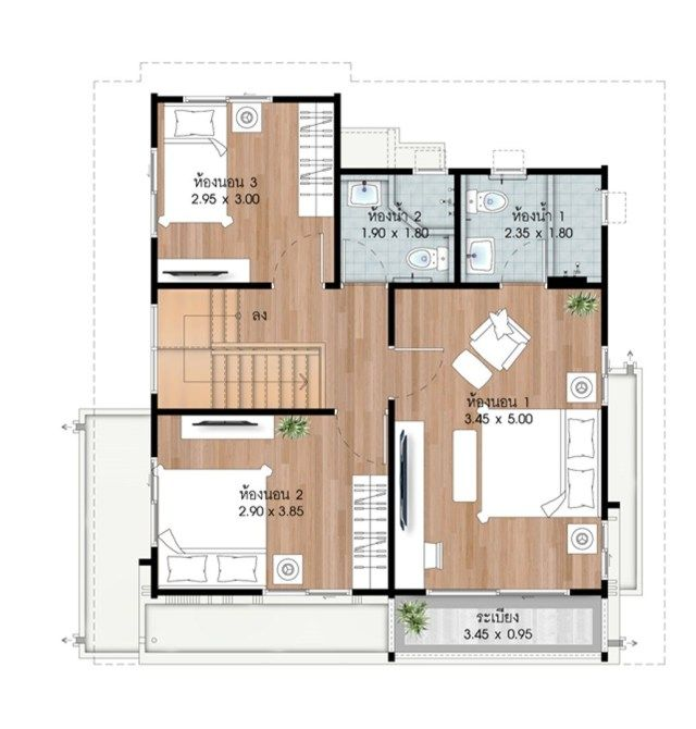 Best House Design Plans 9X9 6M With 3 Bedrooms Con Imágenes 640 x 480