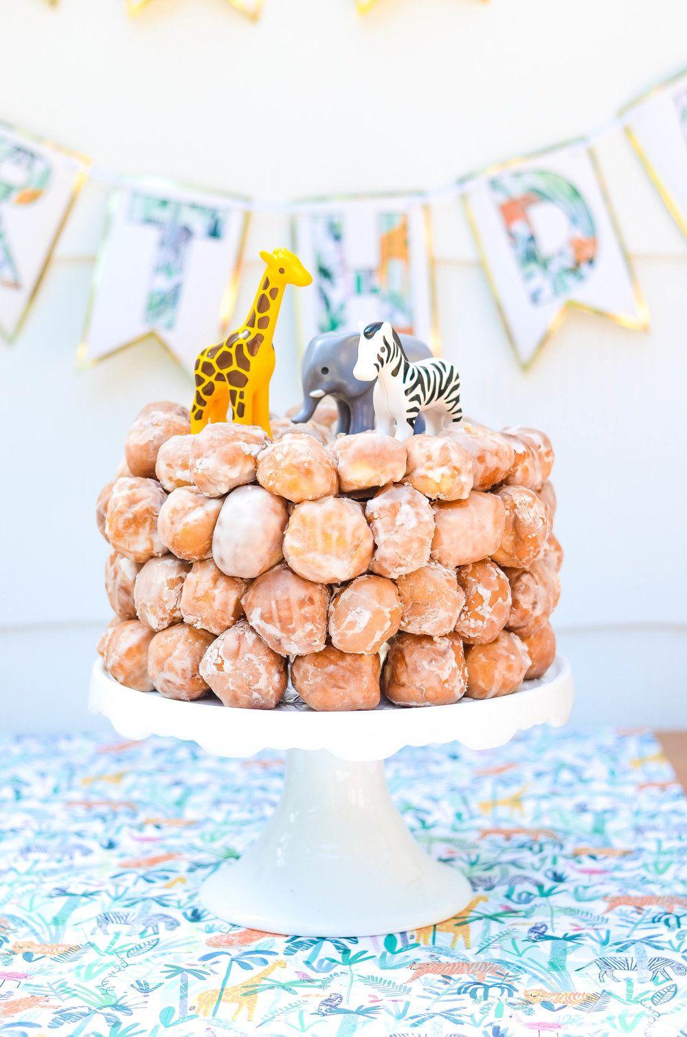 Donut hole cake donut birthday parties toddler birthday