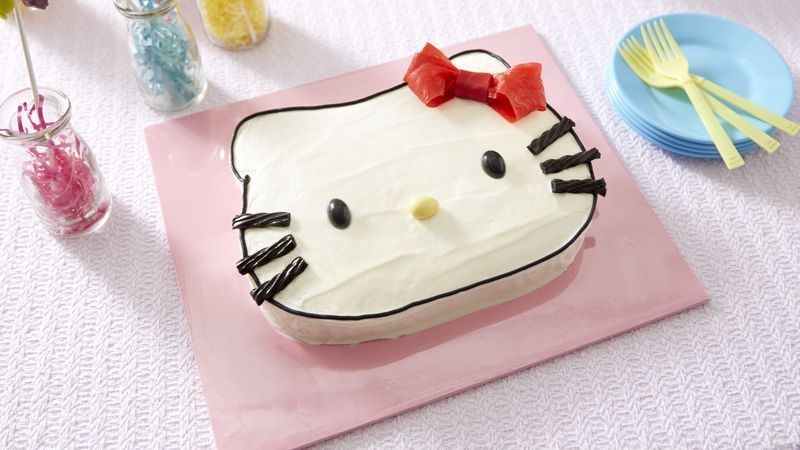 Hello Kitty Cake Recipe Hello kitty cake Kitty cake and Cake