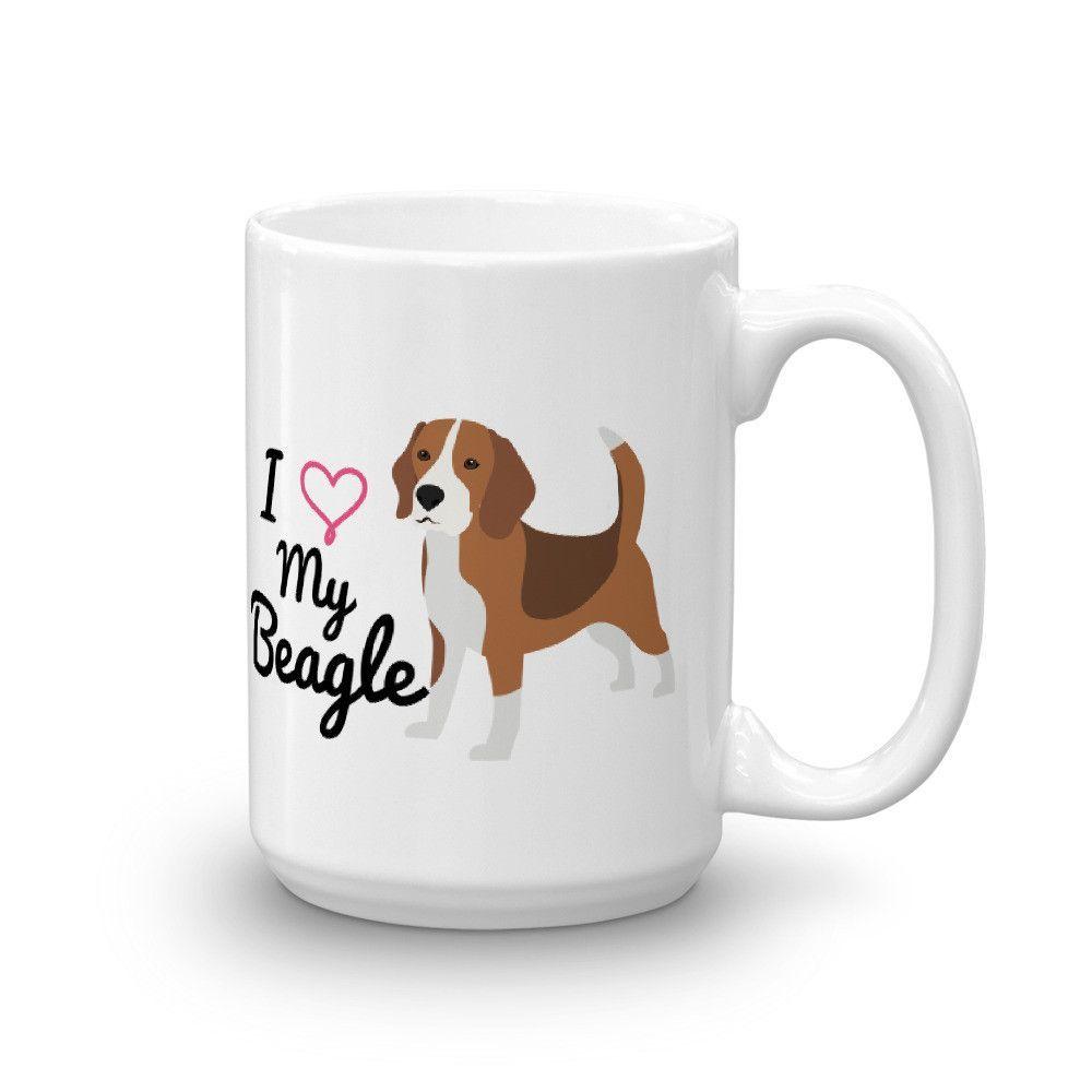 I Heart My Beagle Mug #beagles