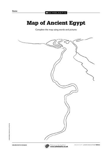 Printable blank fill-in map of Ancient Egypt