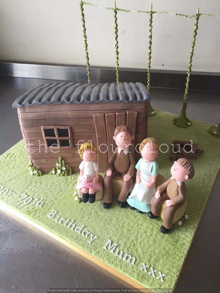 Hop picking hut birthday cake sugar craft and tutorials