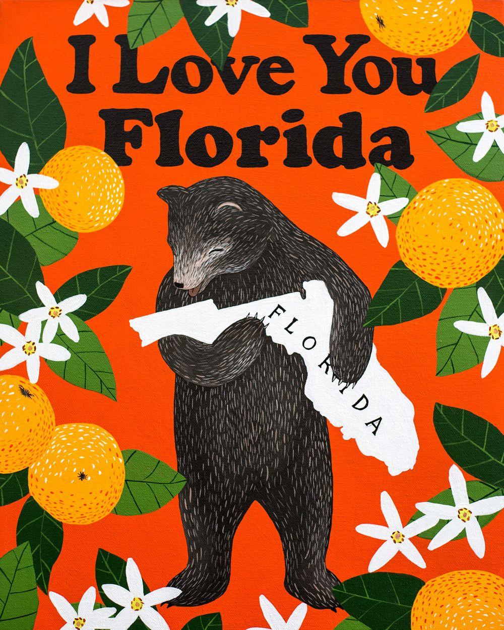 "Love It Florida Style: ""I Love You Florida"" Print"