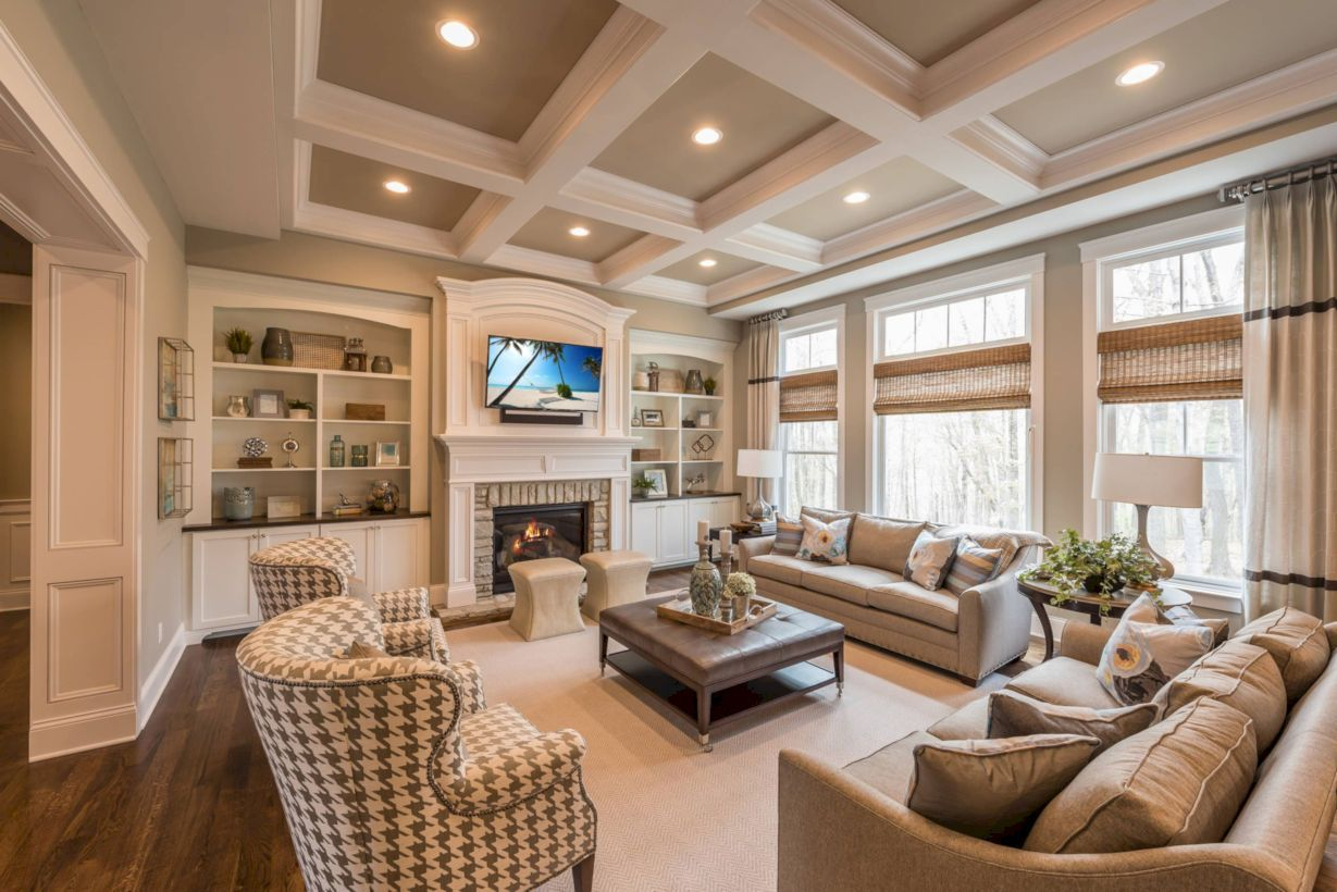 48 Comfortable Family Room Design Ideas Traditional Family Rooms