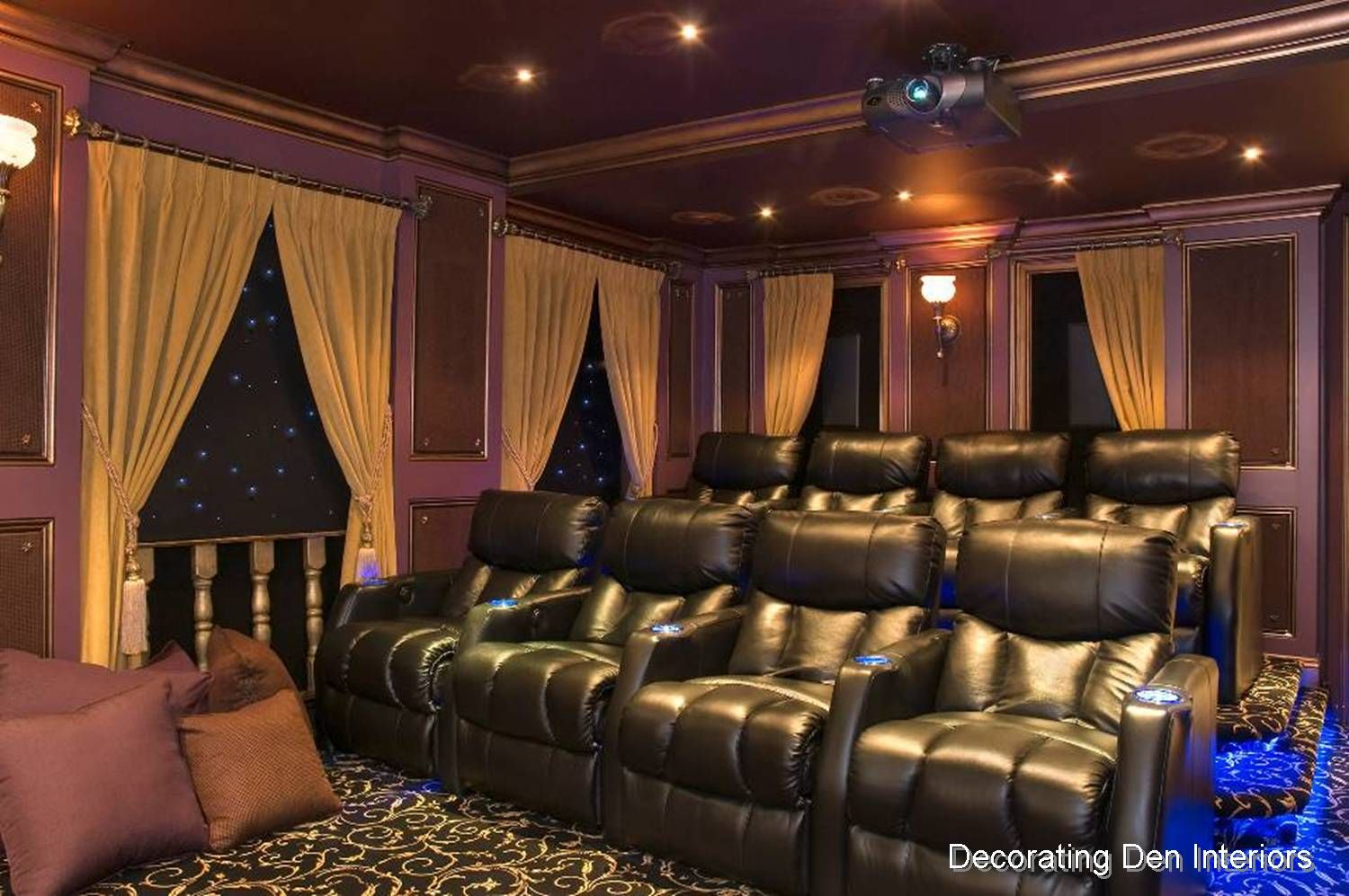 Media Rooms small media room design | crown molding is an excellent design