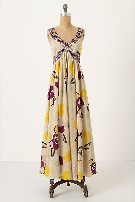 Like the shape and drape of this dress. Breakfast at Anthropologie: Maxi Dress