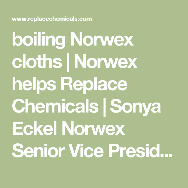 Norwex Helps Replace Chemicals