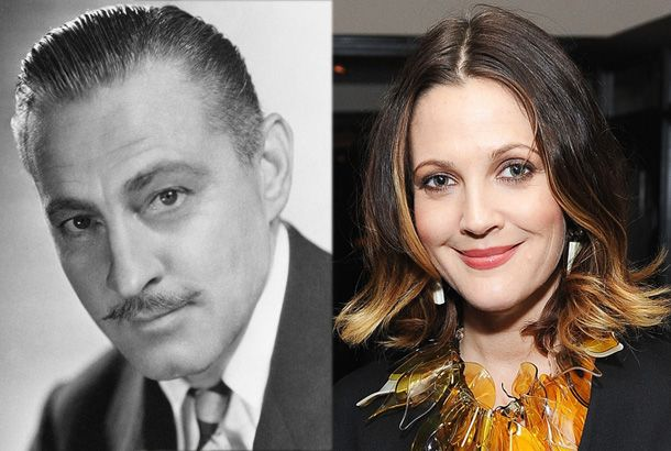 John Barrymore And Granddaughter Drew Barrymore With Images Barrymore Family Celebrity Families Classic Film Stars