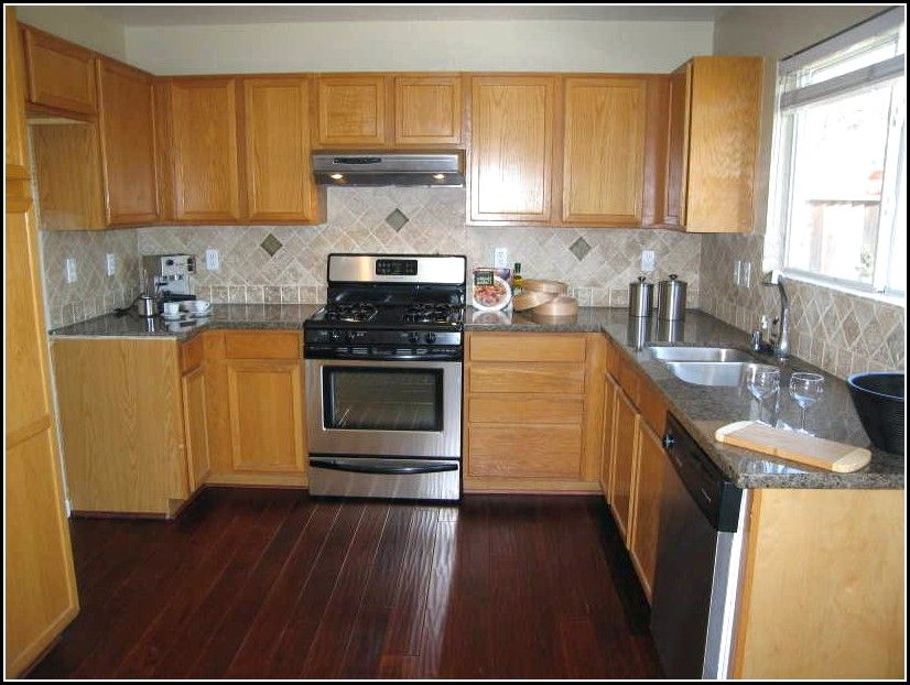 Oak Kitchen Cabinets With Dark Floors Kitchen White Shaker Kitchen Cabinets Oak Kitchen Cabinets Wainscoting Kitchen