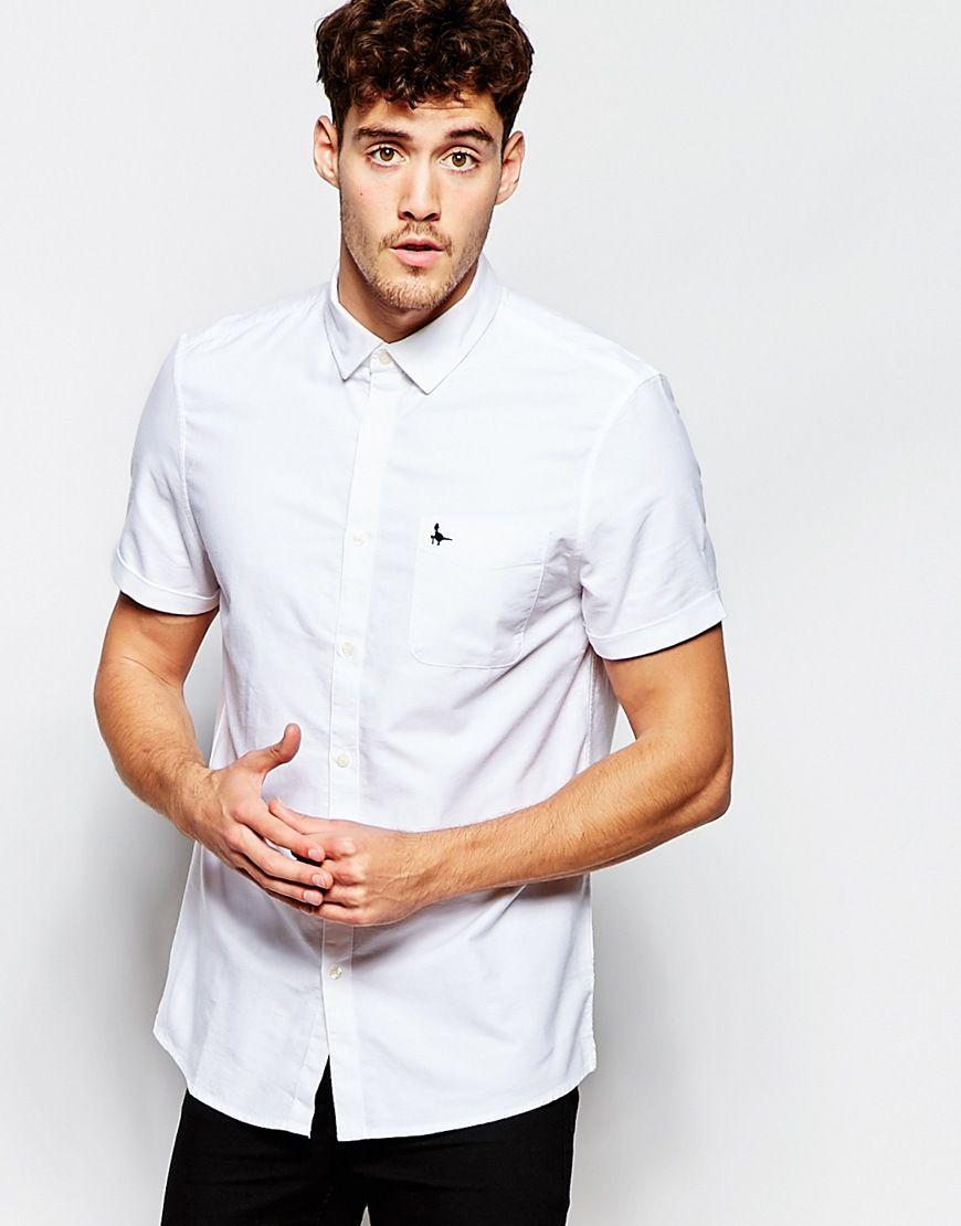 6cd96edd902b Hemd von Jack Wills atmungsaktive Baumwolle spitzer Kragen Knopfleiste  Brusttasche Logostickerei reguläre Passform - entspricht den