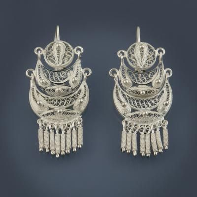 Moda brillo de color brillo de color Dormilonas en plata (Peru) | Pasatiempos | Aretes, Oro plata ...