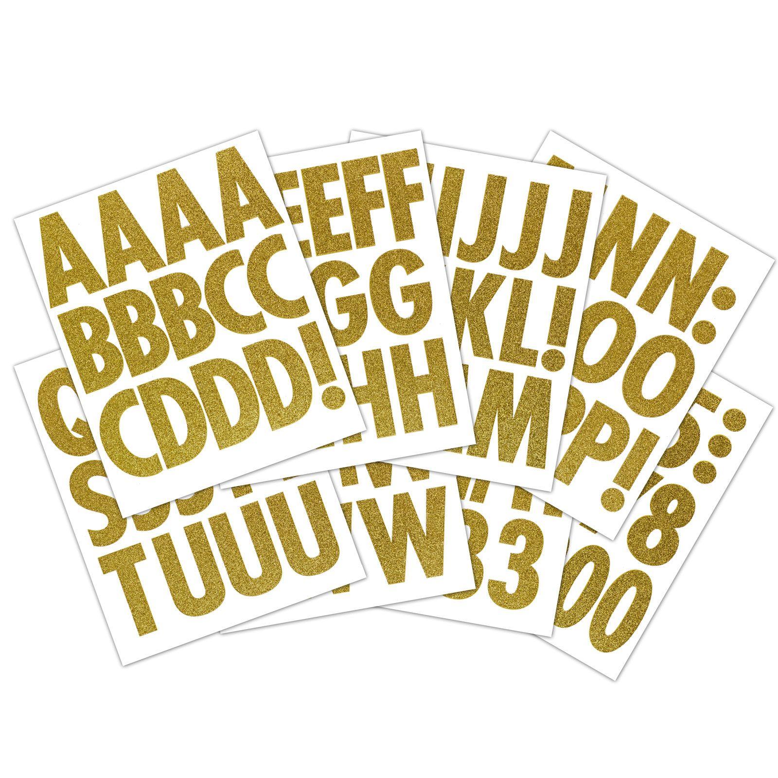 Gold Glitter Extra Large Alphabet Sticker Futura Regular Alphabet Stickers Letter Stickers Alphabet