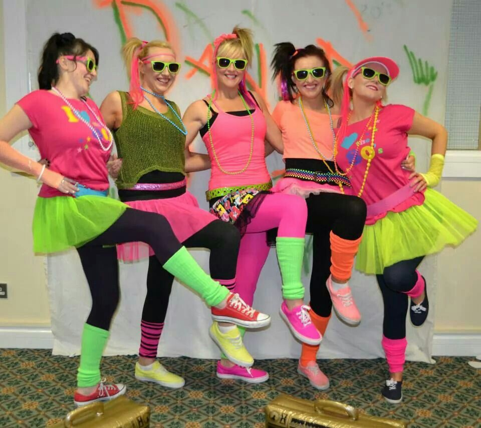 an 80 s themed hen bachelorette party i the 80 s in 2018