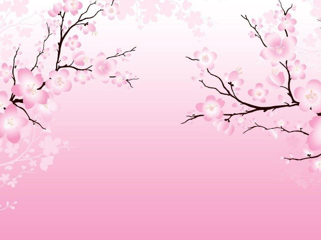 Simple Pink Cherry Blossom Wedding Invitation イラスト画像