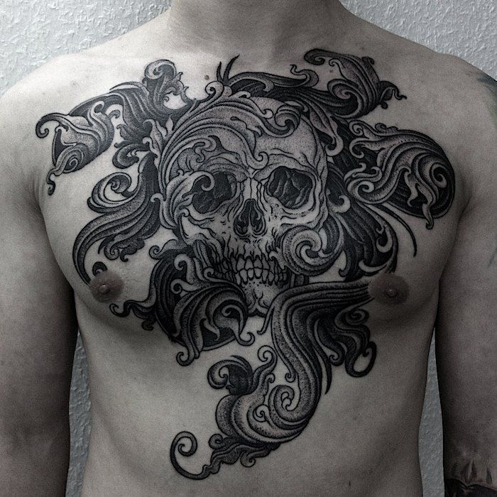 Americano Vibes Cool Chest Tattoos Tattoos For Guys Chest Tattoo Men