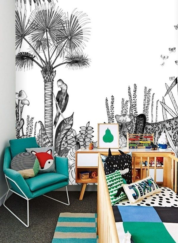 Black Peel Stick Wallpaper Jungle Wall Mural Removable Wallpaper Kids Animal Wallpaper Mural Remove Self Adhesive Wallpaper Safari 160 Wall Wallpaper Jungle Wall Mural Nursery Wallpaper