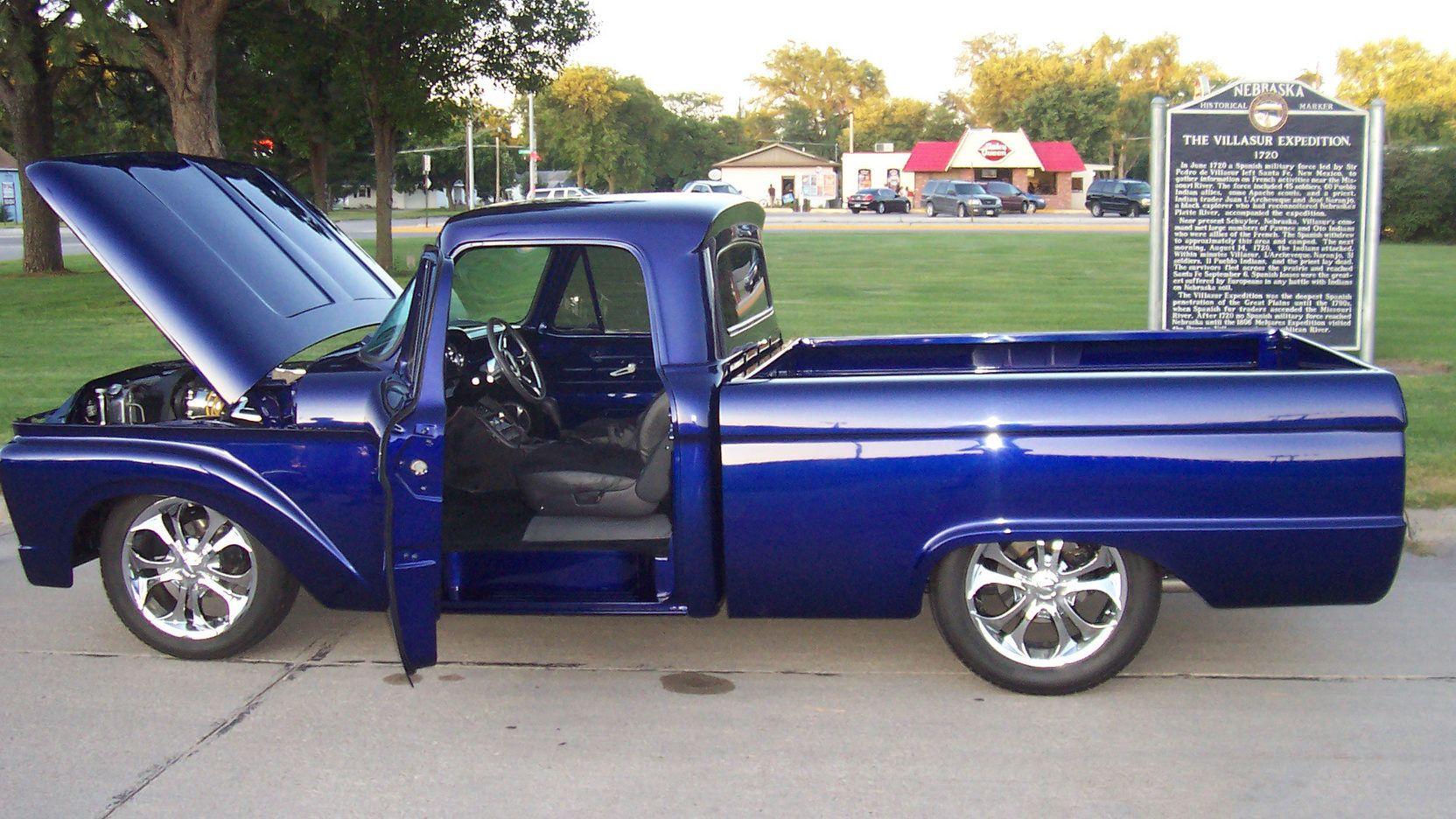 1964 Ford F100 Pickup 2 Print Image Old Trucks Truck