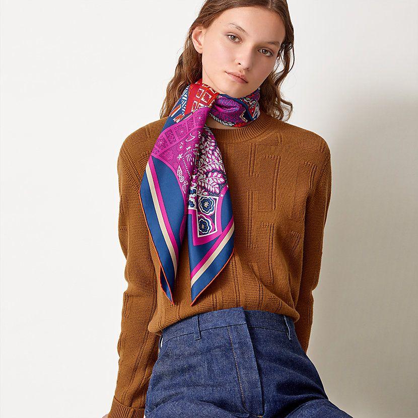 tapis de selle scarf 90 fashion silk