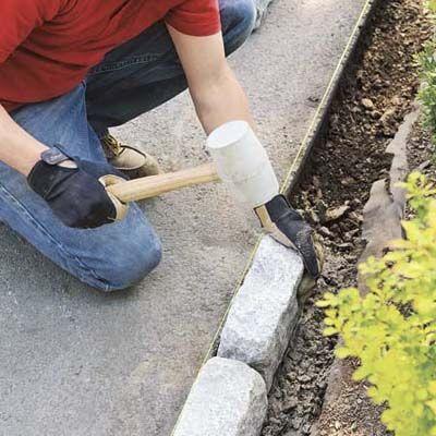 How To Install Belgian Block Driveway Edging Driveway Edging Gravel Driveway Edging Driveway Design