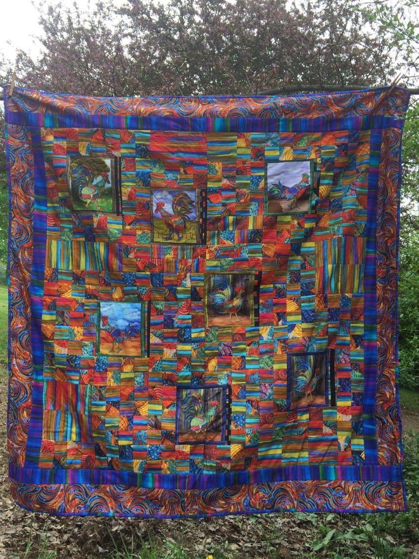 Fancy Feathers quilt by Kim Gann KG Art Studio #pbtextiles ... : taylor creek quilt studio - Adamdwight.com