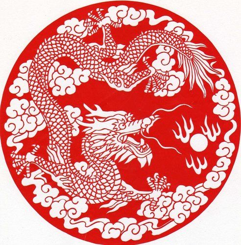 Paper cutting chinese dragon wycinanki pinterest for Chinese paper cutting templates dragon
