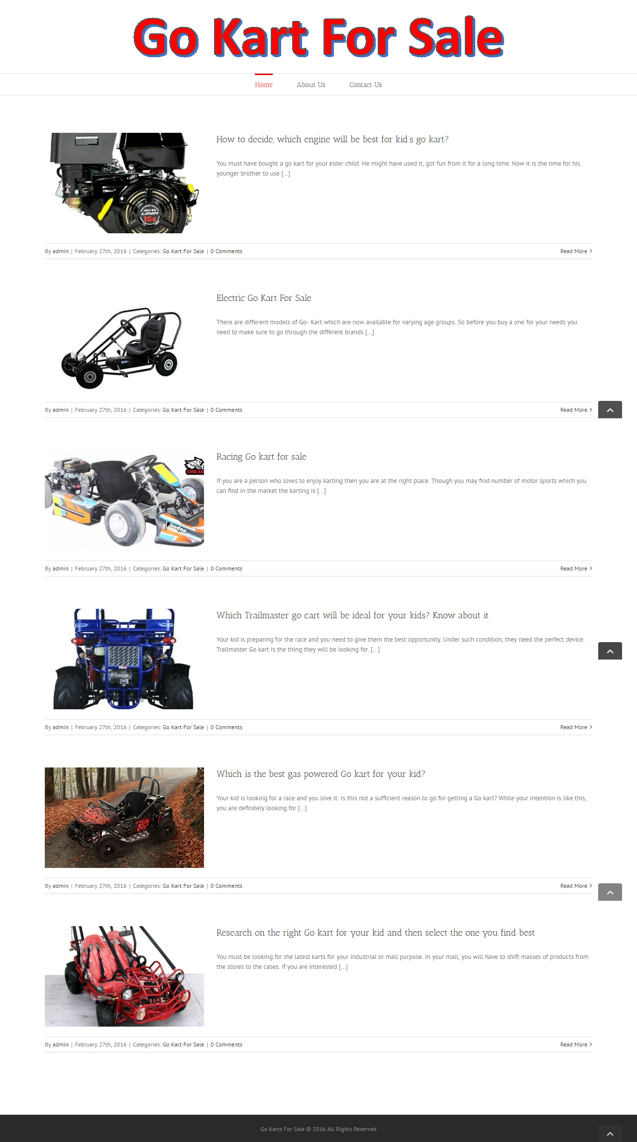 Go Kart For Sale have been selling and distributing Go karts as well as Go