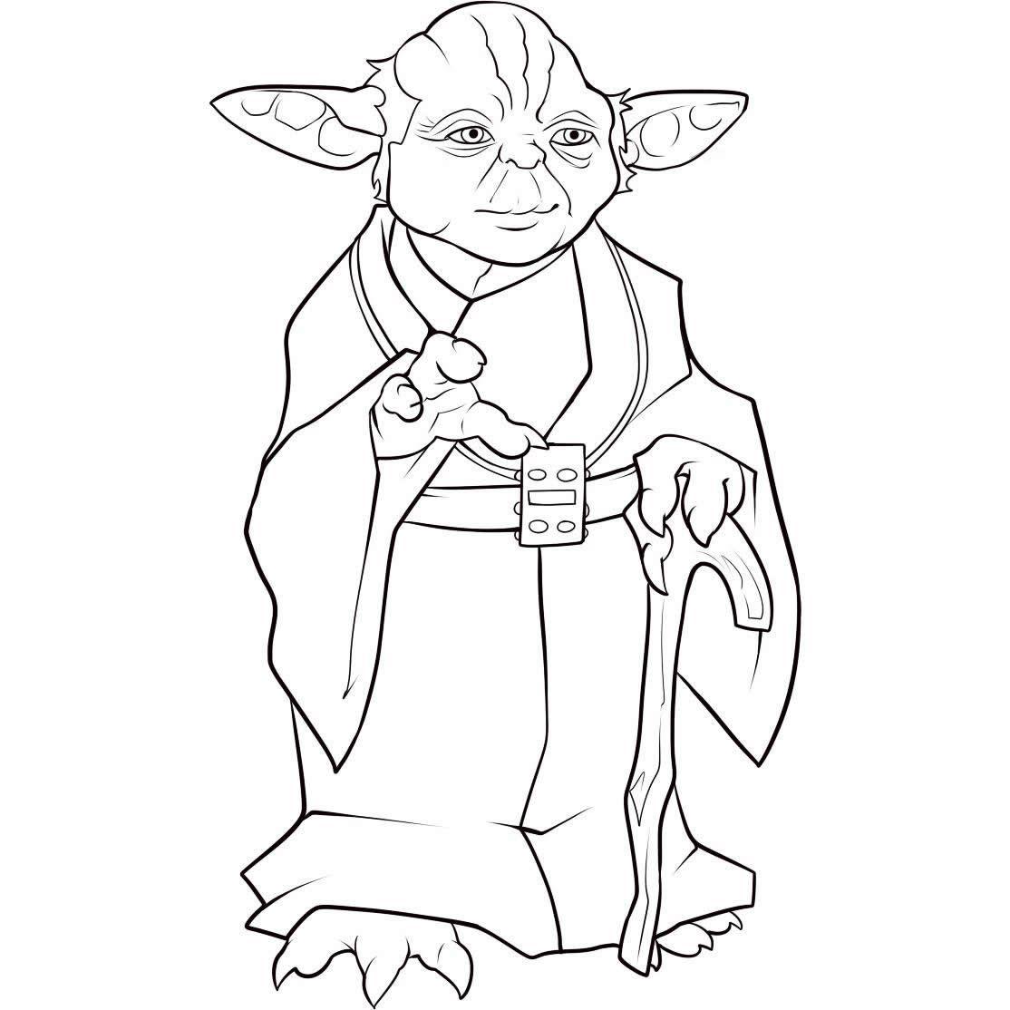 Dibujos De Yoda Para Colorear Y Pintar Imprimir Clipart  Free