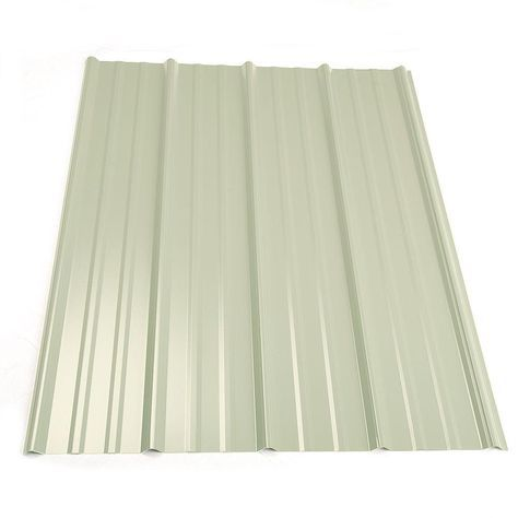 Metal Sales 10 Ft Classic Rib Steel Roof Panel In White Steel Roof Panels Metal Roof Panels Roof Panels