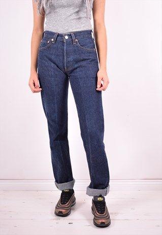 Vintage Levi's 501 Womens Black Jeans