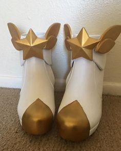 LOL Ahri Star Guardian Cosplay Shoes Ahri Cosplay Shoes Magic Girl Boots Custom
