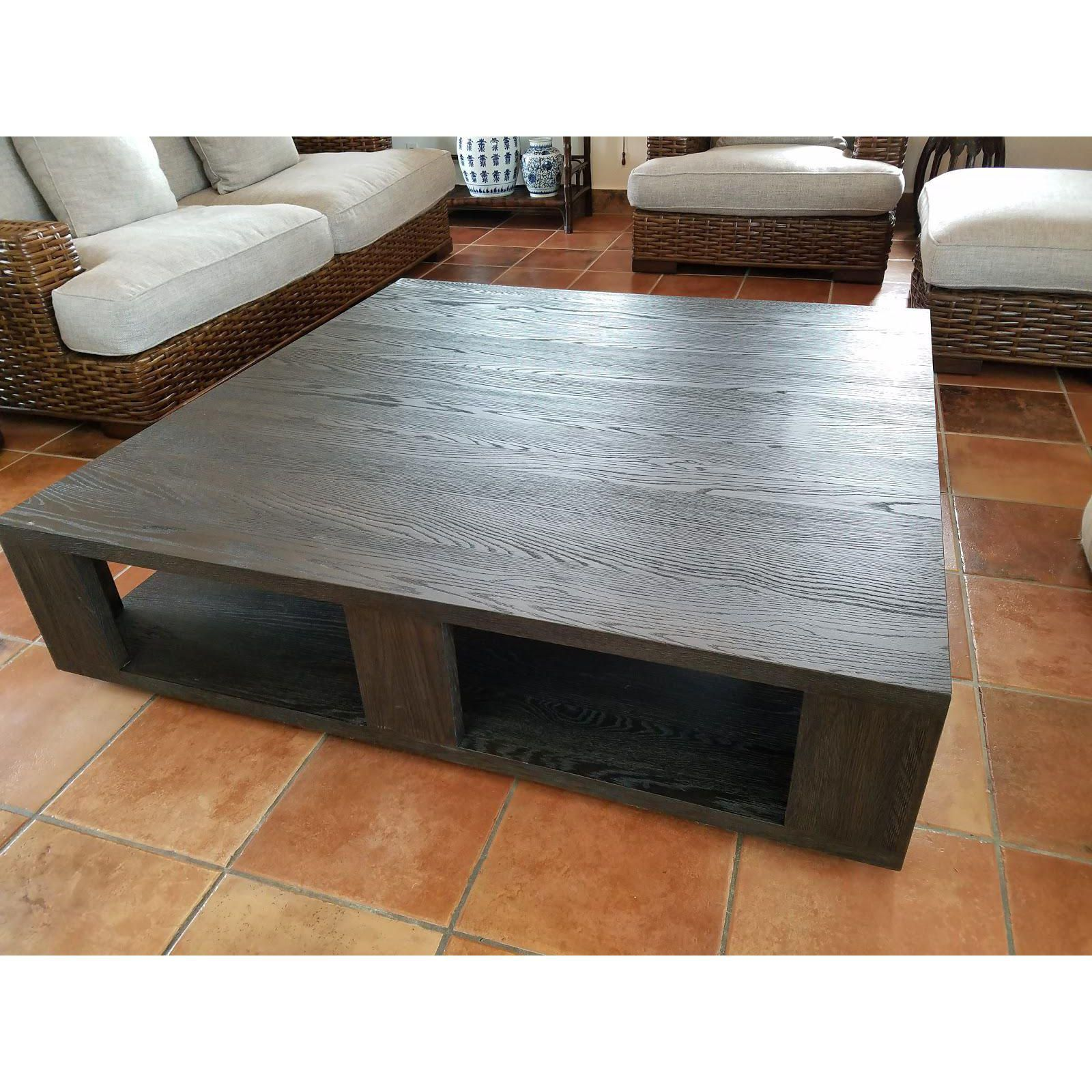 Image Of Restoration Hardware Hayes Square Coffee Table 60 D X 60