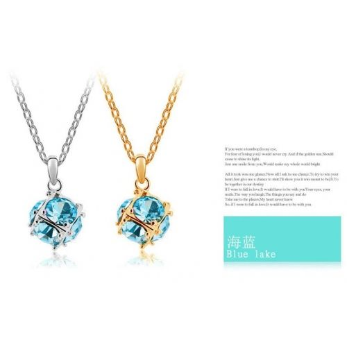 Ball Colorful Crystal Necklace China jewelry Cheap Necklace Fashion Jewelry Wholesale