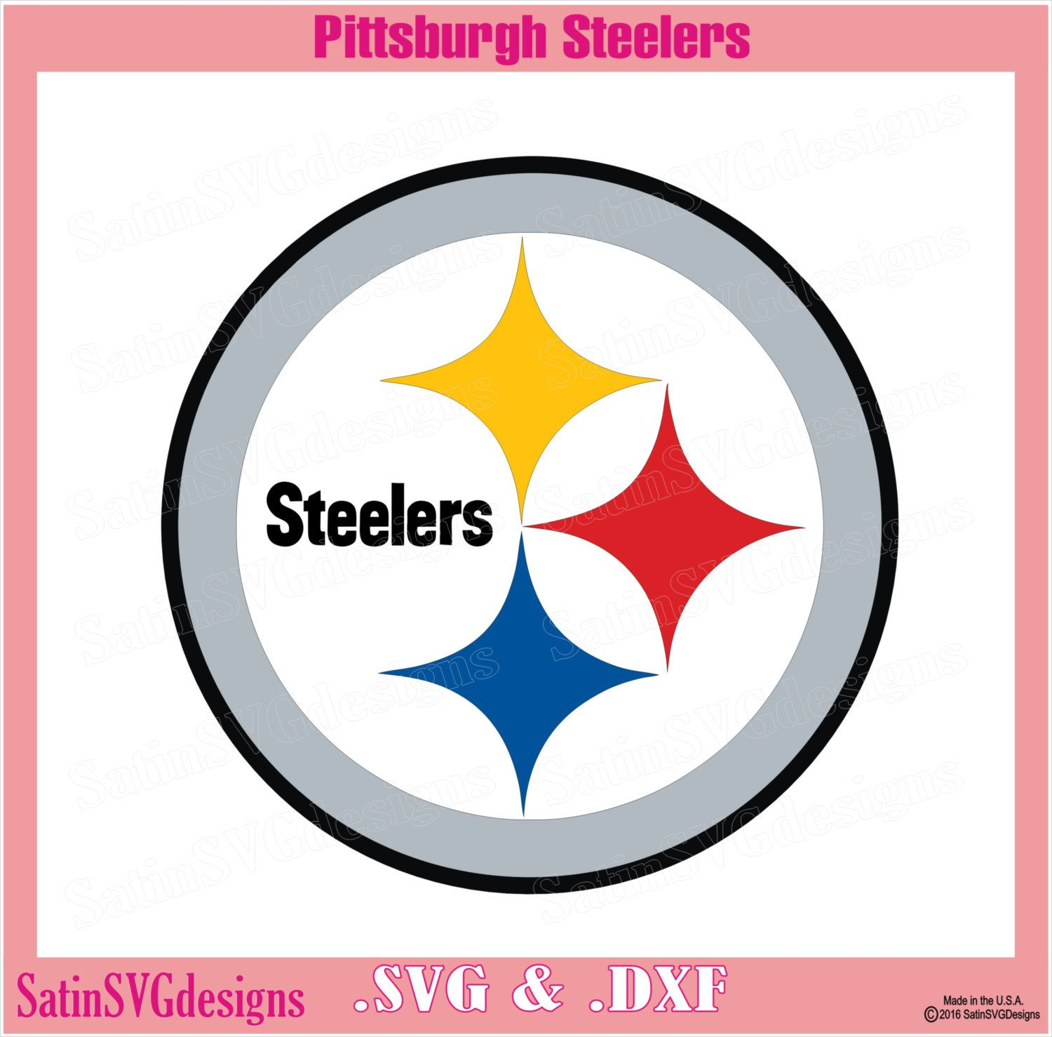 Pittsburgh Steelers Logo Design With Your Silhouette
