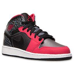be9048eff8f0 Girls  Grade School Air Jordan 1 Mid Basketball Shoes